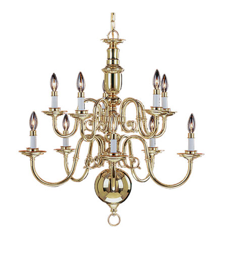 Livex Lighting Beacon Hill 10 Light Chandelier in Polished Brass 5310-02 photo