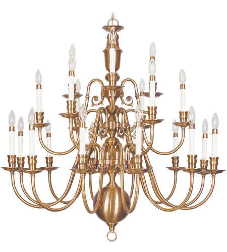 Livex 5321-22 Beacon Hill 22 Light 42 inch Flemish Brass Chandelier Ceiling Light photo