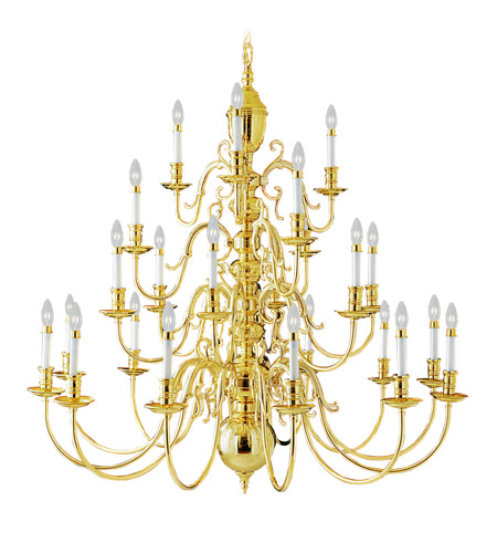 Livex 5344-02 Wakefield 24 Light 48 inch Polished Brass Chandelier Ceiling Light photo