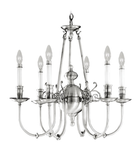 Livex Lighting Kensington 6 Light Chandelier in Brushed Nickel 5371-91 photo