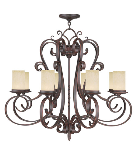 Livex Lighting Millburn Manor 8 Light Chandelier in Imperial Bronze 5488-58 photo