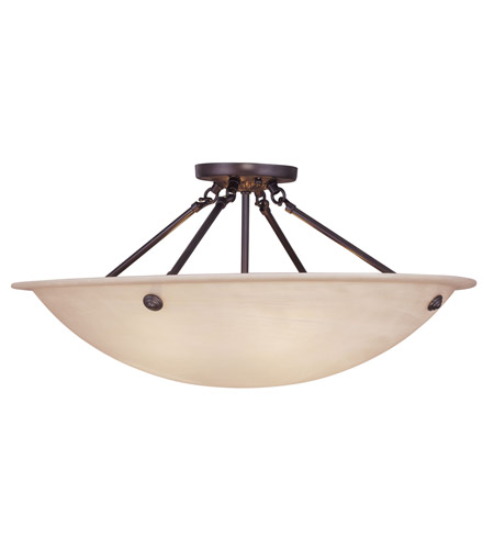Livex Lighting Home Basics 4 Light Ceiling Mount in Bronze 5627-07 photo