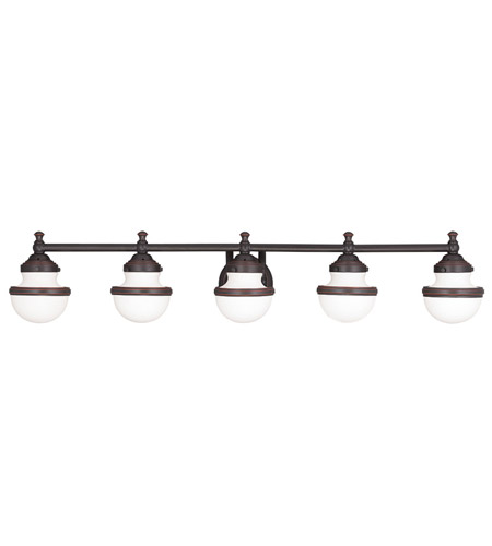 Livex Lighting Oldwick 5 Light Bath Light in Olde Bronze 5715-67 photo