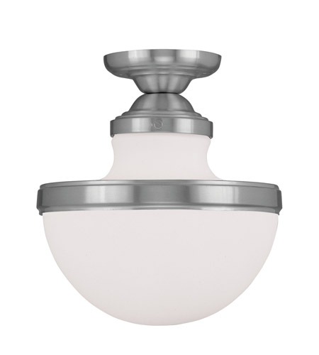 Livex 5722-91 Oldwick 1 Light 10 inch Brushed Nickel Ceiling Mount Ceiling Light photo