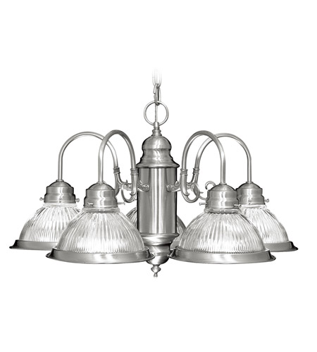 Livex Lighting Home Basics 5 Light Chandelier in Brushed Nickel 6002-91 photo