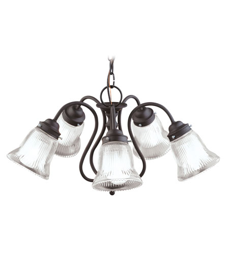 Livex Lighting Home Basics 5 Light Chandelier in Bronze 6022-07 photo