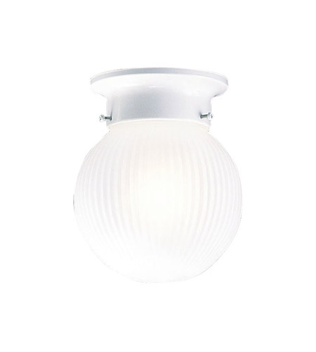 Livex Lighting Signature 1 Light Ceiling Mount in White 6057-03 photo