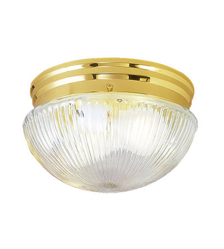 Livex Lighting Signature 1 Light Ceiling Mount in Polished Brass 6080-02 photo