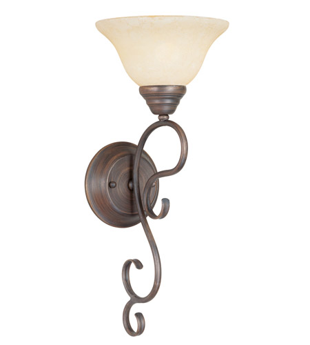 Livex 6100-58 Coronado 1 Light 8 inch Imperial Bronze Wall Sconce Wall Light photo