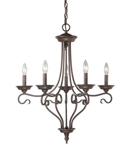 Livex Lighting Coronado 5 Light Chandelier in Imperial Bronze 6105-58 photo