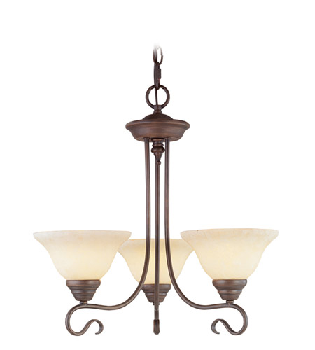 Livex Lighting Coronado 3 Light Chandelier in Imperial Bronze 6107-58 photo