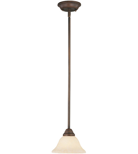 Livex 6110-58 Coronado 1 Light 8 inch Imperial Bronze Mini Pendant Ceiling Light in Vintage Scavo photo