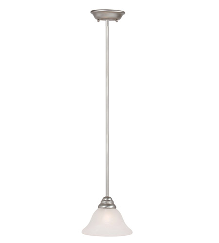 Livex Lighting Coronado 1 Light Mini Pendant in Brushed Nickel 6110-91 photo