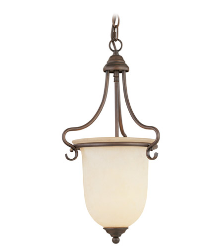 Livex 6116-58 Coronado 1 Light 10 inch Imperial Bronze Foyer Pendant Ceiling Light in Vintage Scavo photo