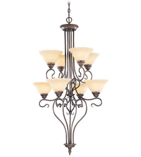 Livex 6118-58 Coronado 8 Light 27 inch Imperial Bronze Chandelier Ceiling Light in Vintage Scavo photo