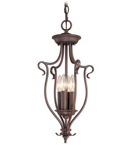 Livex Lighting Coronado 4 Light Foyer Pendant in Imperial Bronze 6127-58 photo