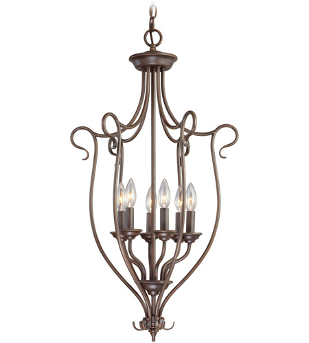 Livex Lighting Coronado 6 Light Foyer Pendant in Imperial Bronze 6128-58 photo