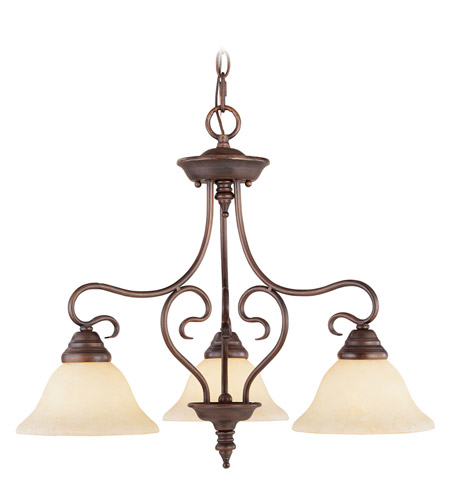 Livex 6133-58 Coronado 3 Light 24 inch Imperial Bronze Chandelier Ceiling Light in Vintage Scavo photo