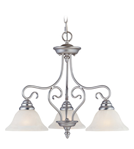 Livex Lighting Coronado 3 Light Chandelier in Brushed Nickel 6133-91 photo
