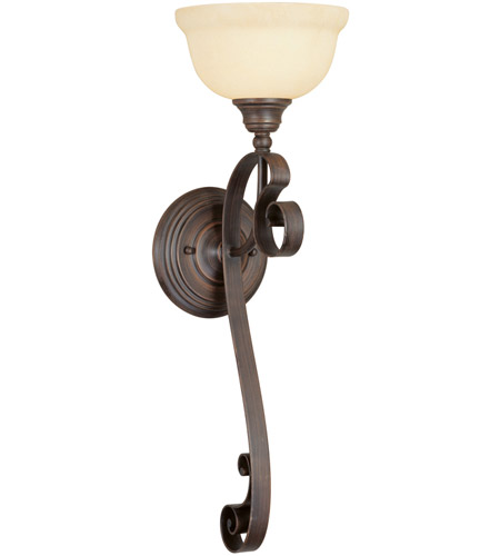 Livex Lighting Manchester 1 Light Wall Sconce in Imperial Bronze 6140-58 photo
