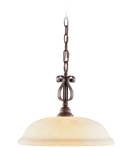 Livex Lighting Manchester 1 Light Pendant in Imperial Bronze 6151-58 photo