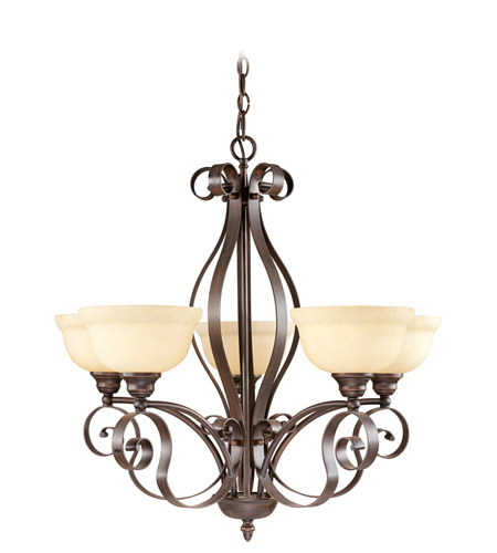 Livex 6155-58 Manchester 5 Light 29 inch Imperial Bronze Chandelier Ceiling Light photo