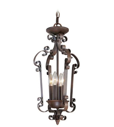 Livex Lighting Manchester 4 Light Foyer Pendant in Imperial Bronze 6157-58 photo