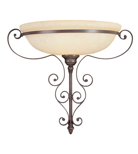 Livex 6160-58 Manchester 1 Light 19 inch Imperial Bronze Wall Sconce Wall Light photo