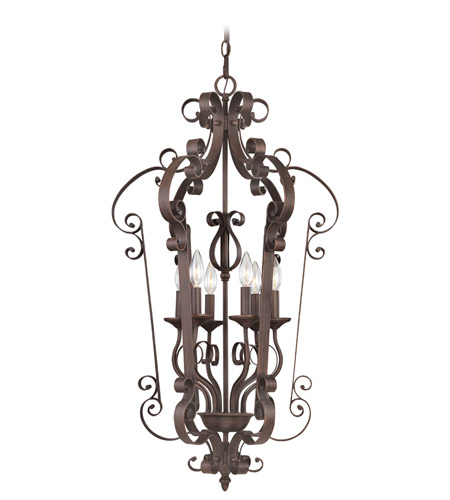 Livex Lighting Manchester 6 Light Foyer Pendant in Imperial Bronze 6164-58 photo