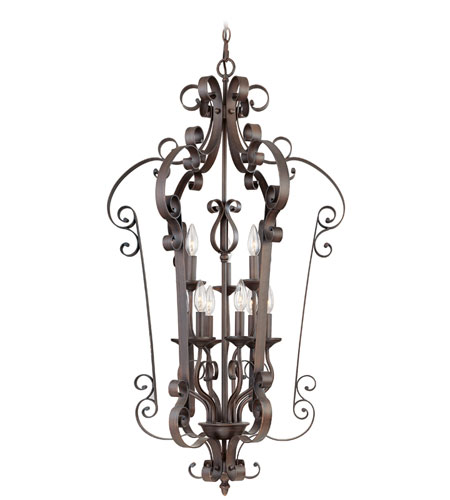 Livex Lighting Manchester 9 Light Foyer Pendant in Imperial Bronze 6165-58 photo