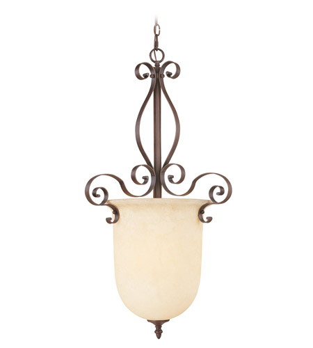 Livex 6167-58 Manchester 1 Light 21 inch Imperial Bronze Foyer Pendant Ceiling Light photo