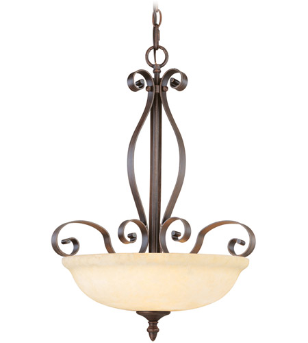 Livex Lighting Manchester 3 Light Inverted Pendant in Imperial Bronze 6168-58 photo