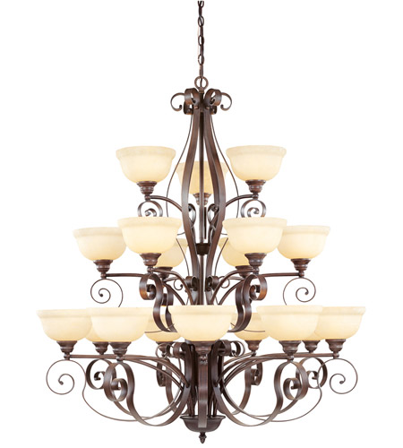 Livex 6169-58 Manchester 18 Light 44 inch Imperial Bronze Chandelier Ceiling Light photo