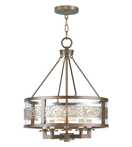 Livex 6257-64 Waverly 5 Light 18 inch Palacial Bronze with Gilded Accents Chandelier Ceiling Light photo