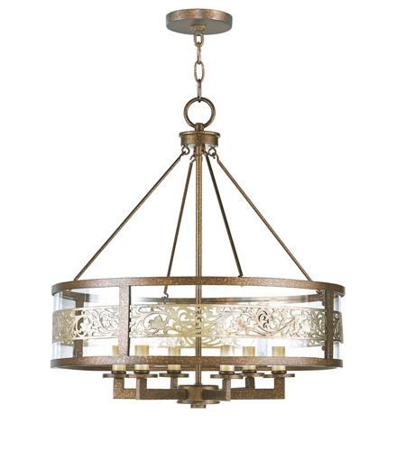 Livex 6258-64 Waverly 6 Light 22 inch Palacial Bronze with Gilded Accents Chandelier Ceiling Light photo