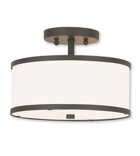 Livex Steel Park Ridge Semi-Flush Mounts