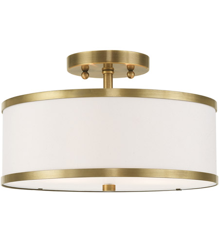 the best attitude bf6ae 21bcf Park Ridge 2 Light 13 inch Antique Brass Flush Mount Ceiling Light