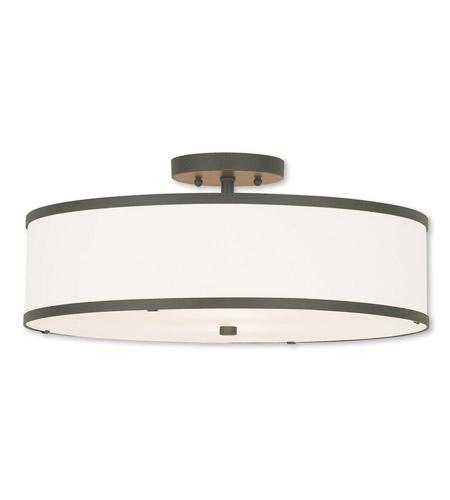 semi flush mount ceiling lights. Livex 62629-07 Park Ridge 3 Light 18 Inch Bronze Semi Flush Mount Ceiling Lights S