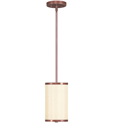 Livex 6270-70 Park Ridge 1 Light 6 inch Vintage Bronze Mini Pendant Ceiling Light photo