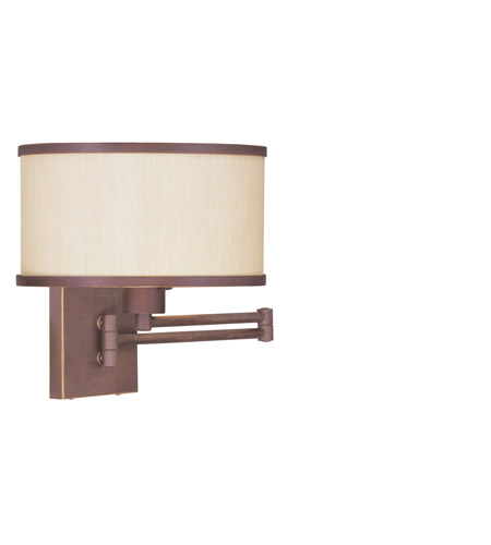 Livex Lighting Park Ridge 1 Light Swing Arm Wall Lamp in Vintage Bronze 6279-70 photo