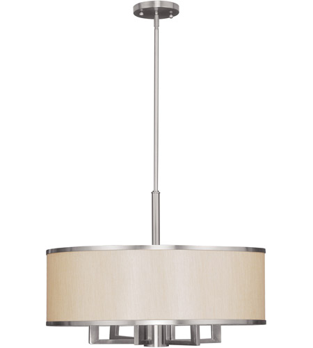 Livex Lighting Park Ridge 7 Light Chandelier in Brushed Nickel 6296-91 photo