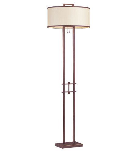 Livex Lighting Park Ridge 2 Light Floor Lamp in Vintage Bronze 6299-70 photo