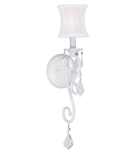 Livex 6301-03 Newcastle 1 Light 5 inch White Wall Sconce Wall Light photo