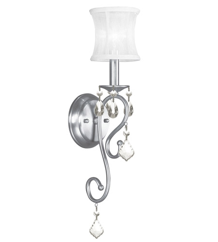 livex newcastle 1 light 5 inch brushed nickel wall sconce wall light photo