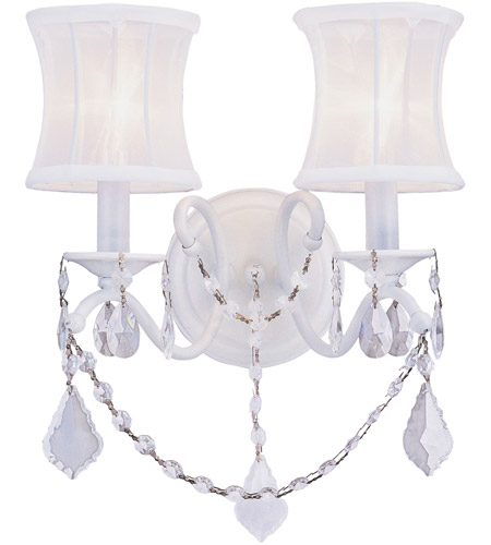 Livex Lighting Newcastle 2 Light Wall Sconce in White 6302-03 photo