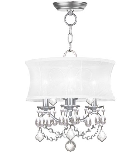 Livex 6303-91 Newcastle 3 Light 13 inch Brushed Nickel Pendant/Ceiling Mount Ceiling Light  photo