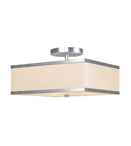 Livex 6348-91 Park Ridge 2 Light 12 inch Brushed Nickel Ceiling Mount Ceiling Light photo