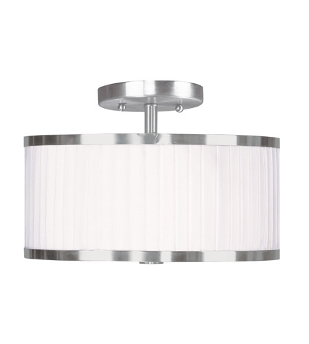 Livex Lighting Park Ridge 2 Light Ceiling Mount in Brushed Nickel 6363-91 photo