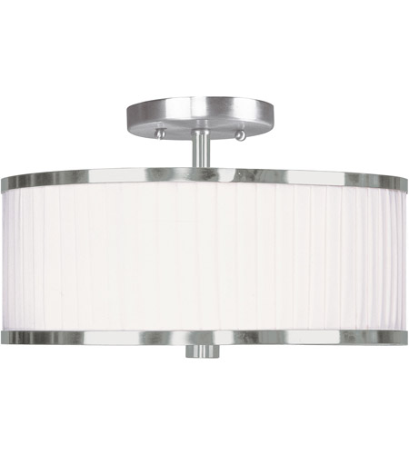 Livex Lighting Park Ridge 2 Light Ceiling Mount in Brushed Nickel 6364-91 photo