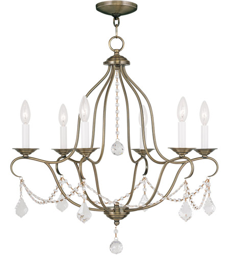 Livex 6426-01 Chesterfield 6 Light 25 inch Antique Brass Chandelier Ceiling Light photo  sc 1 st  Livex Lighting & Livex 6426-01 Chesterfield 6 Light 25 inch Antique Brass Chandelier ...